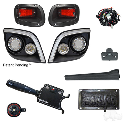 BYO LED Light Kit w/ RGBW LED Running Light, E-Z-Go Express (Deluxe, Pedal Mount)