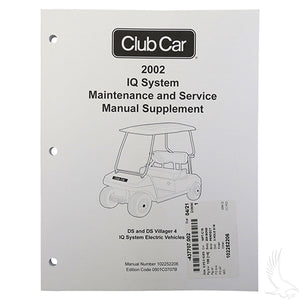 Maintenance & Service Supplement, Club Car DS IQ 02