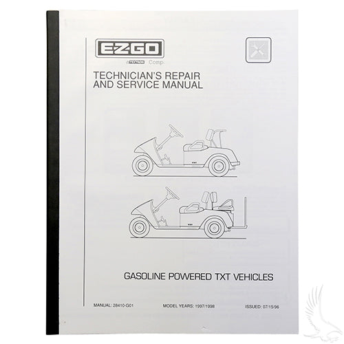 Service Manual, E-Z-Go TXT Gas 97-98