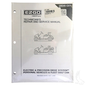 Service Manual, E-Z-Go PDS & Electric 01-08