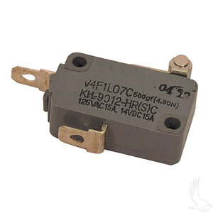 Micro Switch, 2 terminal, E-Z-Go 4-cycle Gas 94+, Electric 94+ Non-DCS