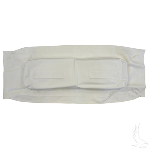 Seat Back Cover, White, Club Car Trans/Utility