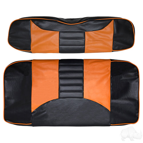 Cover Set, Front Seat Rally Black/Orange, E-Z-Go TXT, RXV 96-13