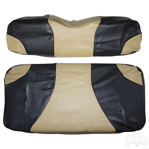 Cover Set, Front Seat Sport Black/Tan, E-Z-Go TXT, RXV 96-13