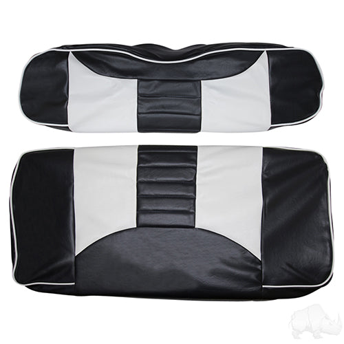 Cover Set, Front Seat Rally Black/White, E-Z-Go TXT, RXV 96-13