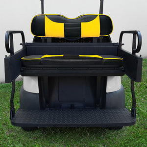 RHOX Rhino Seat Kit, Rally Black/Yellow, Club Car Precedent