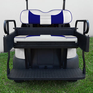 RHOX Rhino Seat Kit, Rally White/Blue, Club Car Precedent