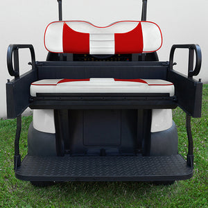RHOX Rhino Seat Kit, Rally White/Red, Club Car Precedent