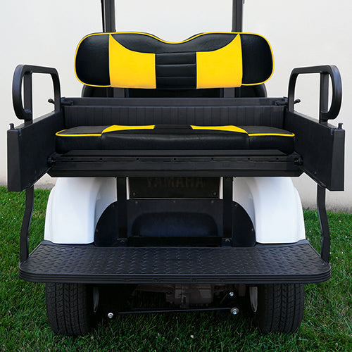 RHOX Rhino Seat Kit, Rally Black/Yellow, Yamaha Drive