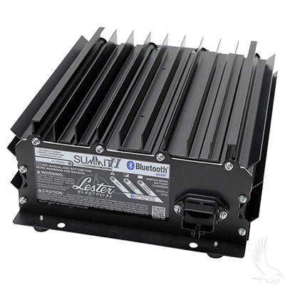Battery Charger, Lester Summit Series High Frequency, 19.5A 24-48, E-Z-Go Industrial Notched DC Plug
