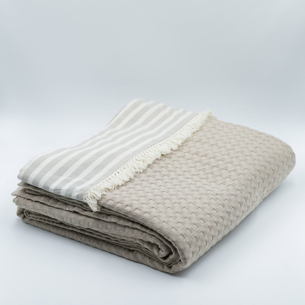 kouverta Stripy beige