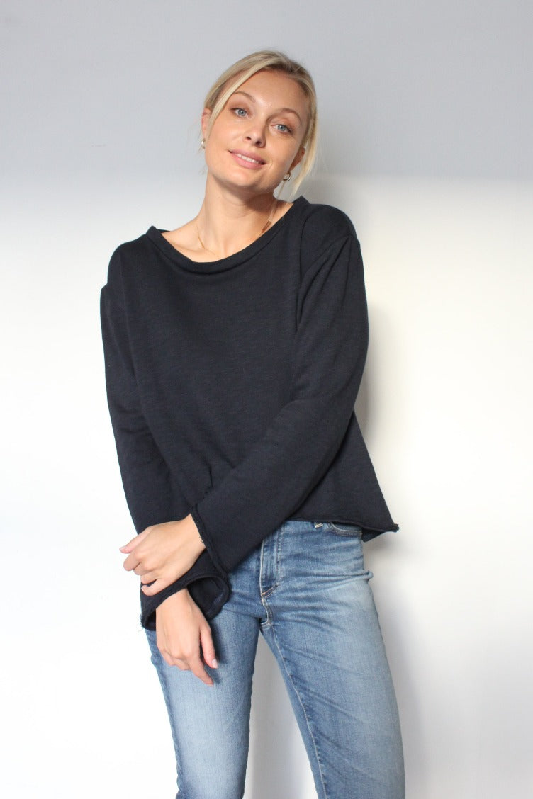 October Reign Jane Sweater - Navy