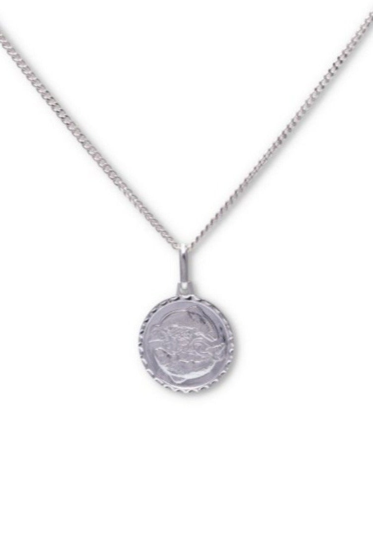 Baby Anything Zodiac Flower Star Medallion in Sterling Silver - AVAILABLE FOR PRE-ORDER