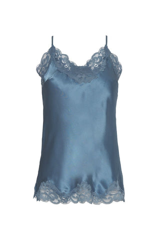 Gold Hawk Floral Lace Camisole - Blue Jay
