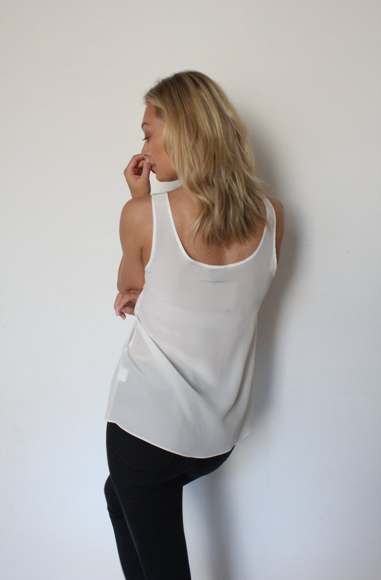 October Reign Essential Round Neck Camisole - White