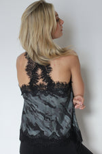 Gold Hawk Cropped Lace Camisole - Camouflage