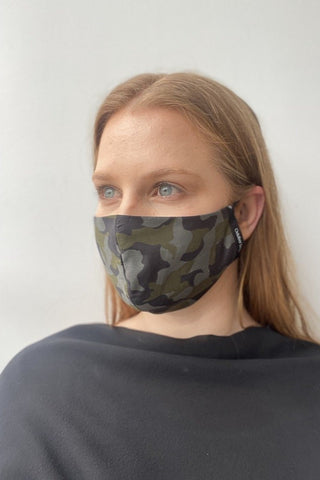 October Reign Face Mask - Camouflage
