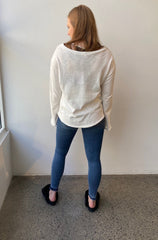 October Reign Jane Sweater - White