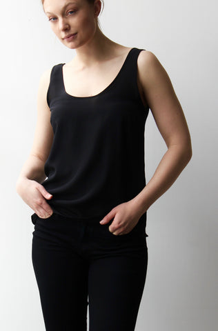 October Reign Essential Round Neck Camisole - Black