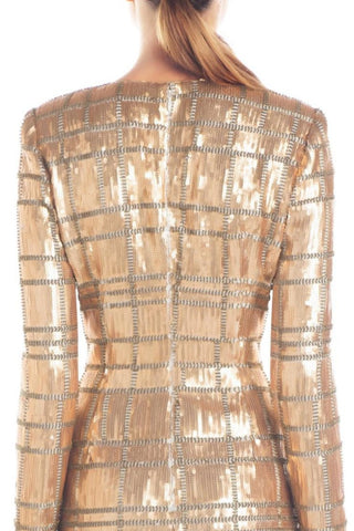 Misha Ava Sequin Dress - Gold