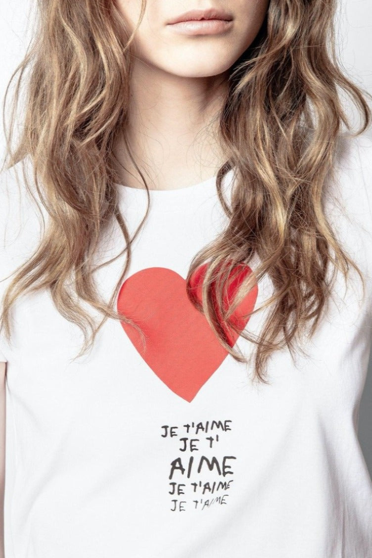 Zadig & Voltaire Je T'aime Tee - Blanc