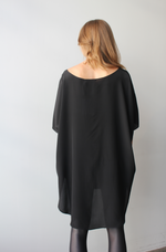 October Reign Silk Kaftan - Black