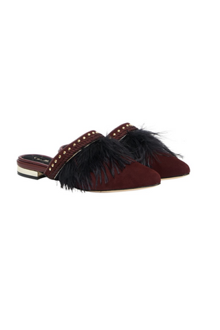 Camilla Feather Slipper Shoes