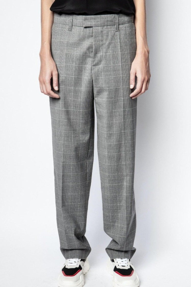 Zadig & Voltaire Peter Check Pant - Grey