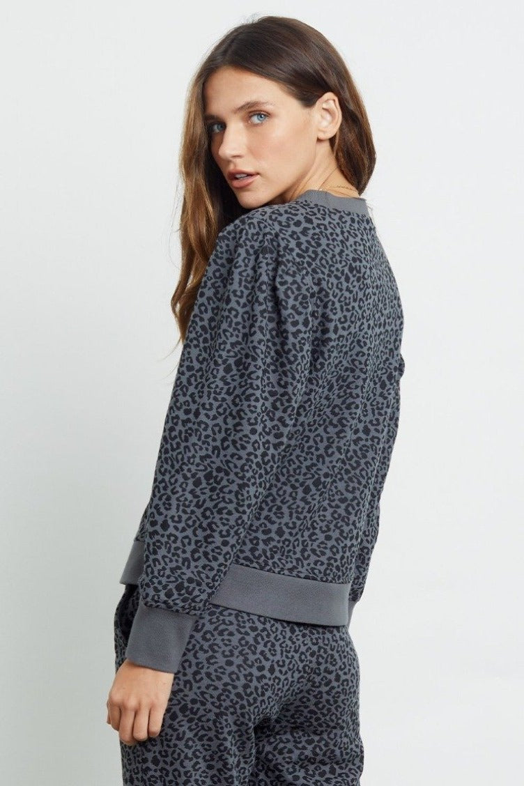 Rails Marcie Sweater - Charcoal Cheetah