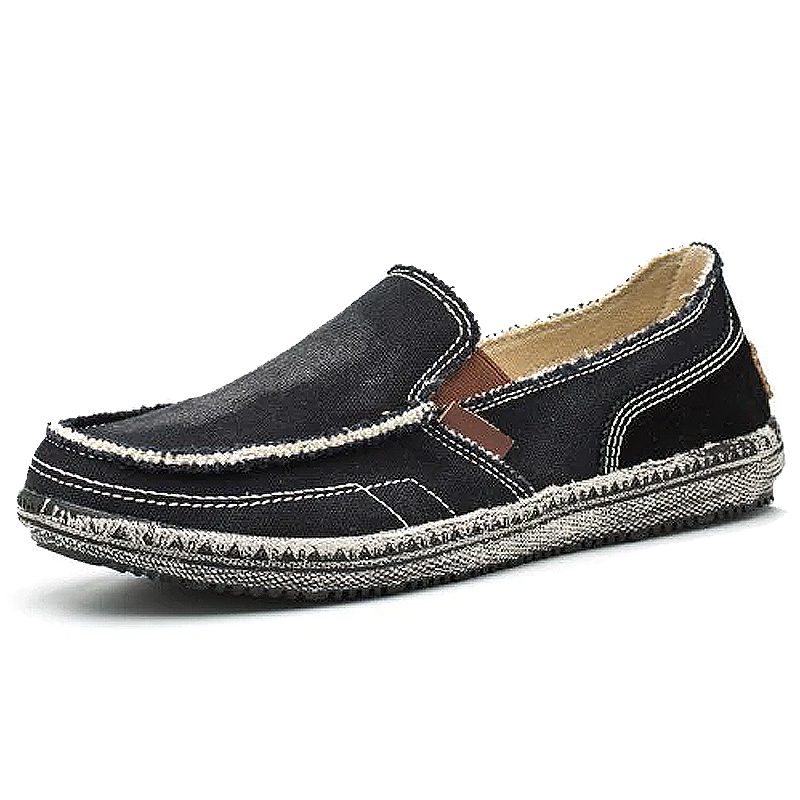 Men's Solid Color Canvas Slip-on Casual Shoes