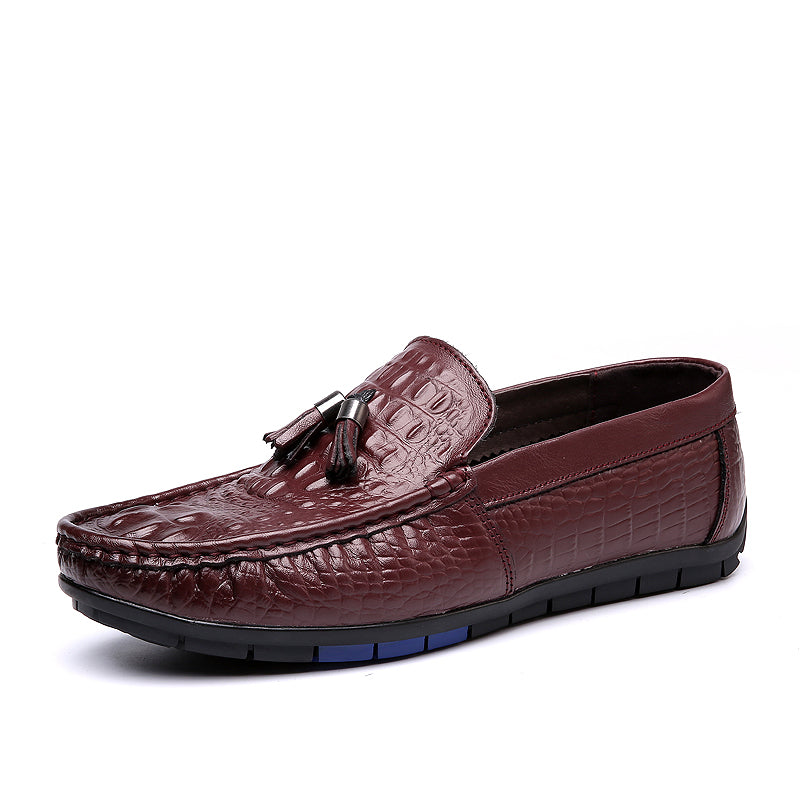 Tassel Alligator Scale Shoes