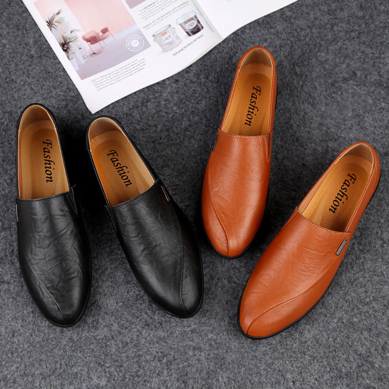 Soft Leather Slip On Loafers