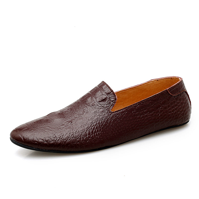 Crocodile Scale Slip-on Shoes