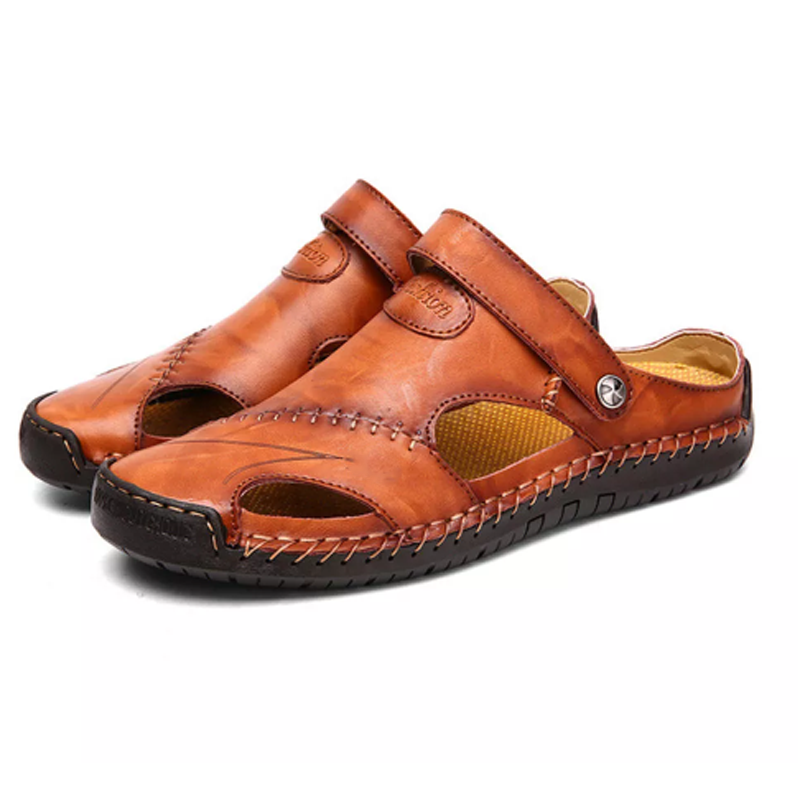 Hollow Out Leather Sandals