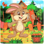 Wooden Bunny Puzzle [Best gift for Children]