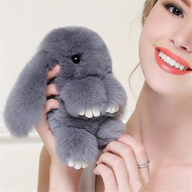 Awesome FAKE FUR Rabbit Keychain *You will love it!*