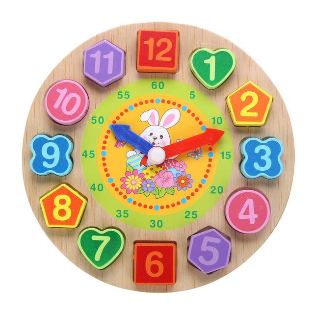 Wooden Puzzle Rabbit Clock *Gift*