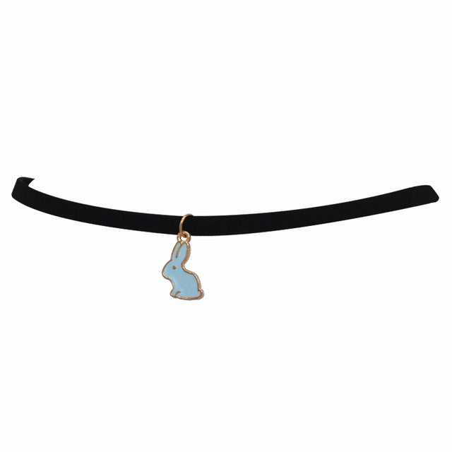 Amazing Black Velvet Bunny Choker [HOT]