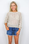 Multi Yarn Knit Sweater