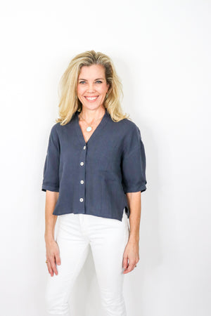 Linen Button Down Top