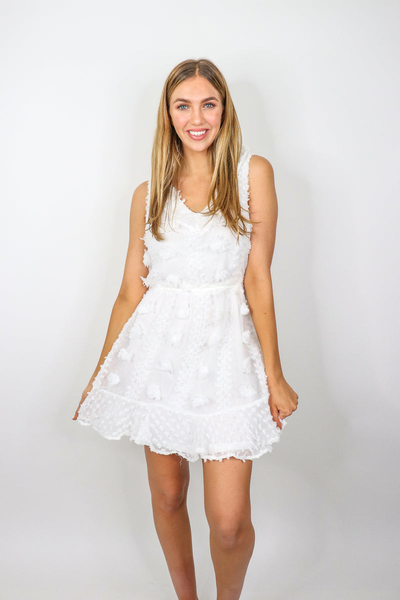 Pompom Sleeveless Dress