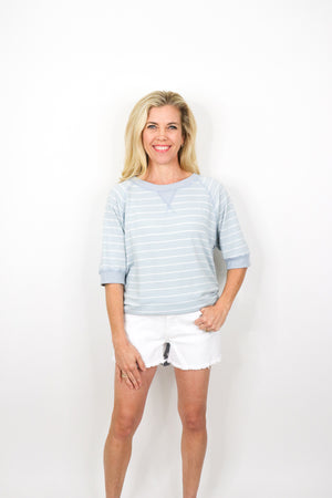 Striped French Terry Top