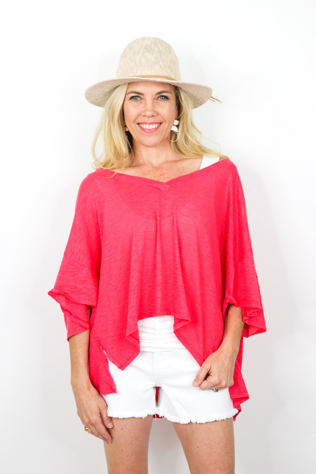 V-neck Cropped Tee