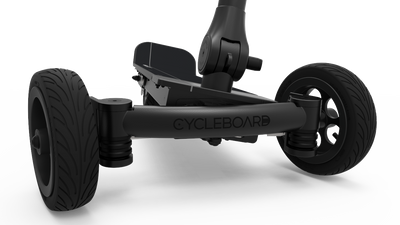 CycleBoard Elite Pro Matte Black Stealth Front Lean to Steer