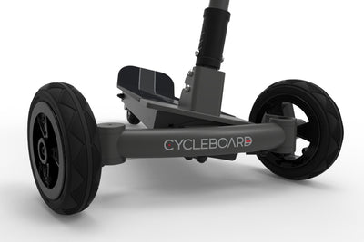 CycleBoard Sport Carbon Grey Front Lean-to-steer