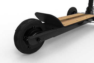 CycleBoard Sport Phantom Black Woody Back Wheel