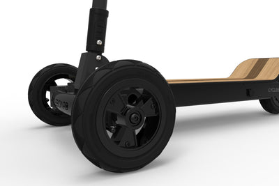 CycleBoard Phantom Black Woody Front Wheel.