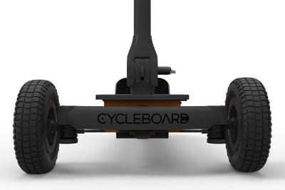 CycleBoard Rover Gunmetal Grey Burnt Orange Front