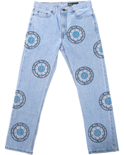 Load image into Gallery viewer, 3rd Eye All-Over Rhinestone Denim