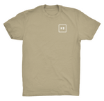 Tan Logo Front Photo Back Tee